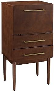 Crosley Furniture Everett Spirit Cabinet - Vintage Mahogany