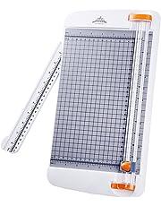 Jielisi cortadora de papel titanio 12 inch A4 cortador con automático Seguridad Safeguard, Blanco (
