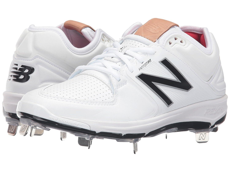 (ニューバランス) New Balance メンズ野球ベースボールシューズ靴 L3000v3 White/White 9 (27cm) EE - Wide B07CP4JBRV