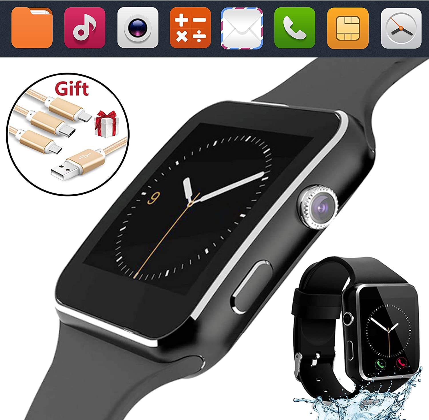 Amazon.com: 2018 Bluetooth Smart Watch Touchscreen with ...