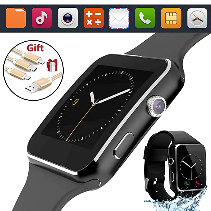 2018 Bluetooth Smart Watch Touchscreen with Camera,Unlocked Smartwatch Phone with Sim Card Slot,Smart Wrist Watch,Smartwatch Phone for Android Samsung ...