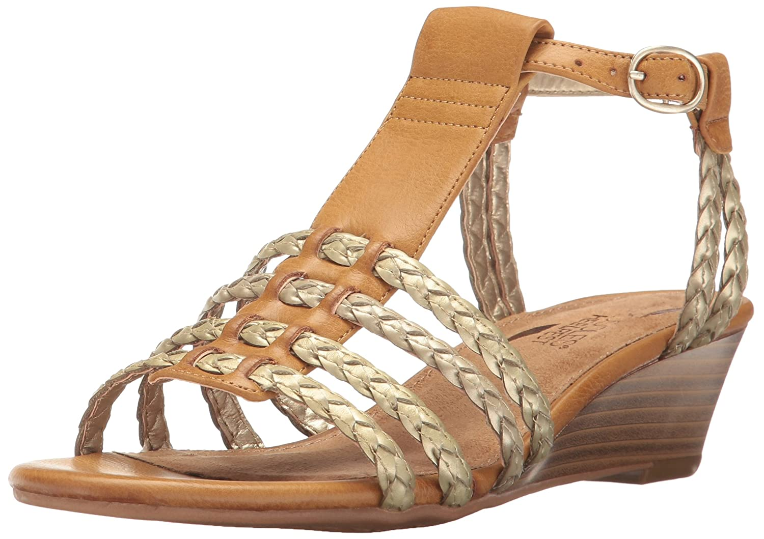 Aerosoles Women's Bittersweet Wedge Sandal B01MXMFNN0 5.5 B(M) US|Dark Tan Combo