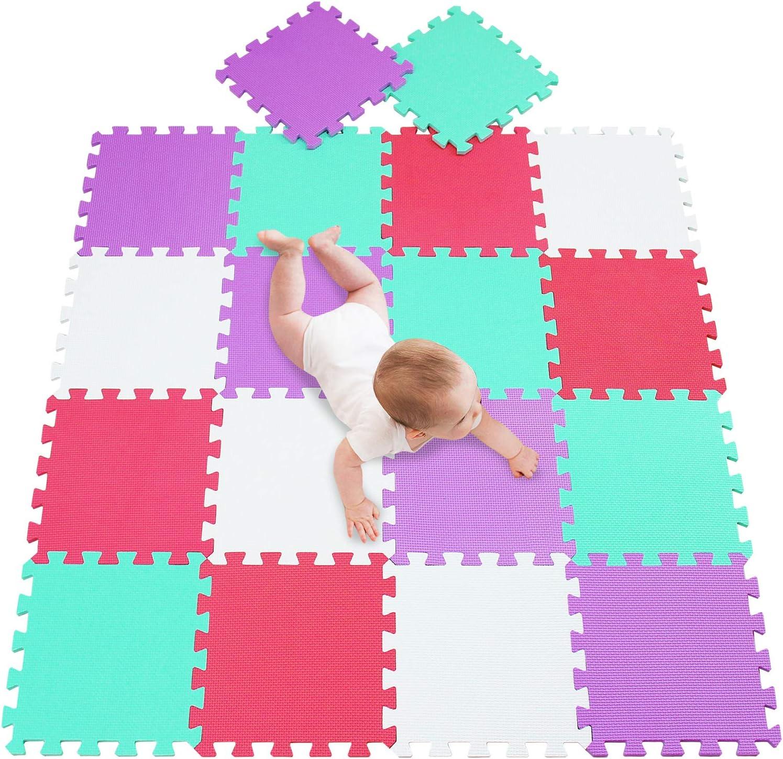 Puzzle de Suelo de Goma en Espuma EVA 18 Piezas Alfombra de Juego para beb/é Esterilla de Rompecabezas Approx 1.62m/²- Multicolored Alfombra Puzzle para Ni/ños 18 Piezas meiqicool