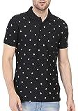 BULLMER Men's Half Sleeve Polo T-Shirt - BUL-BFS086B - Black/White
