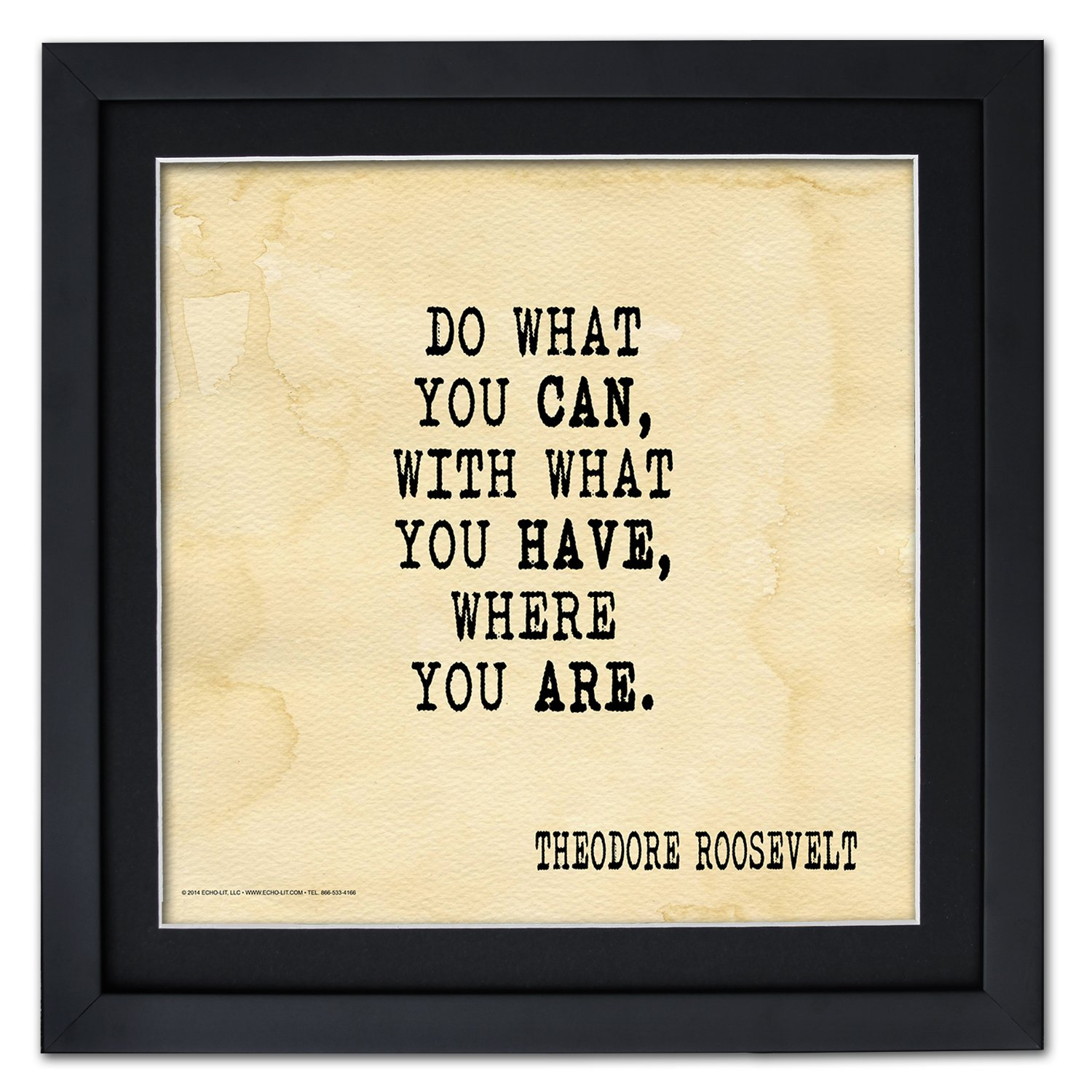 Amazon.com: Do What You Can Framed Motivational Poster Featuring a ...