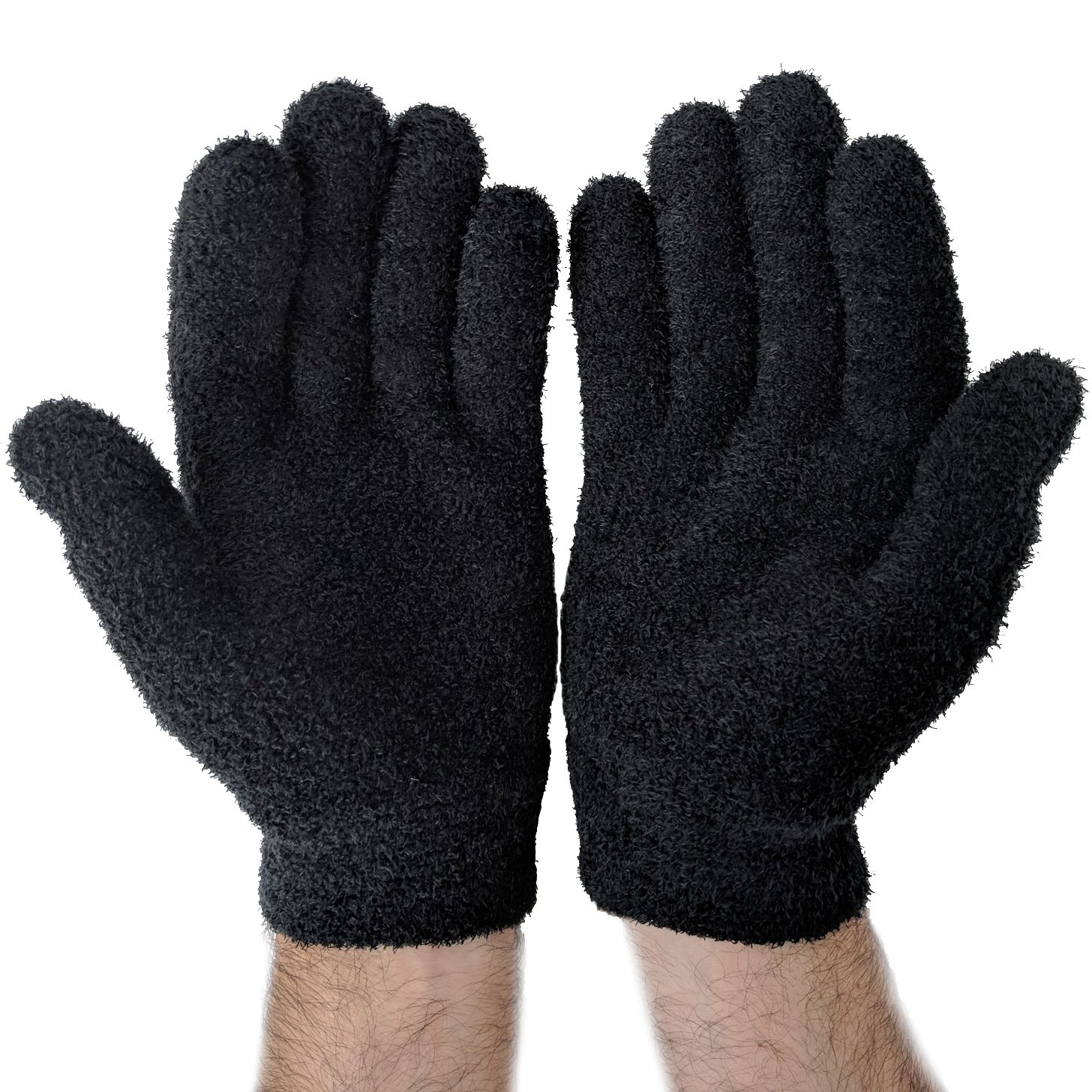 NatraCure Gel Moisturizing Gloves - Black (Lavender Scent) – (For Anti-Aging and Relief from Eczema and Dry, Rough, and Cracked Hands)