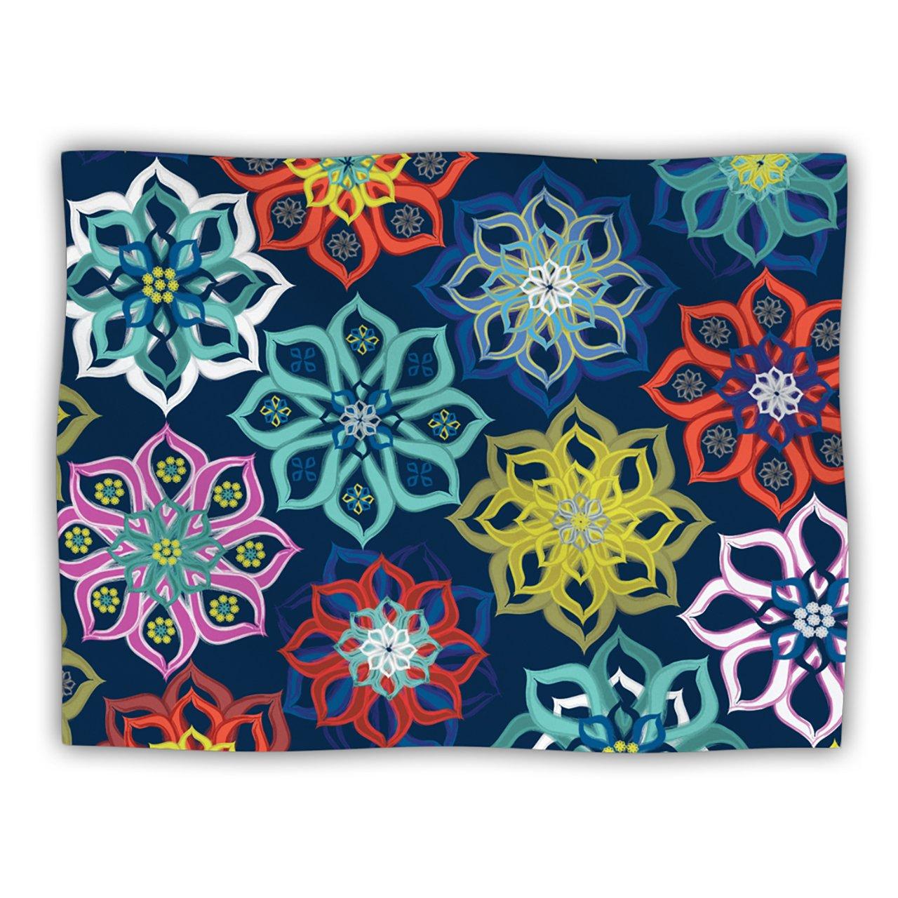 Kess InHouse Jolene Heckman  Multi Flower Rainbow Flowers  Dog Blanket, 60 by 50-Inch