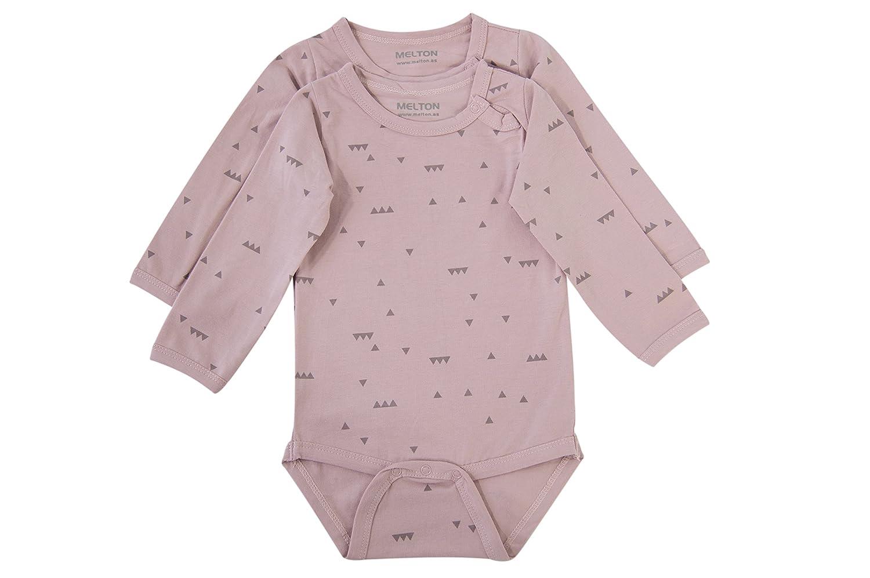 Melton Baby - Mädchen Body Numbers, 2er-Pack Jersey-Langarmbody Aop MELTON A/S 800511