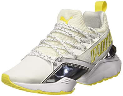 huge selection of c4383 3a25a Puma Women s Muse Maia TZ Metallic Wn s White Sneakers-10 UK India (
