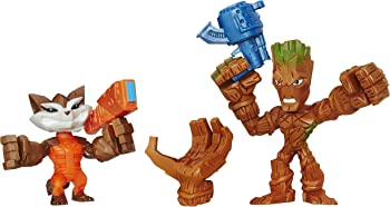 2-Pk. Marvel Super Hero Mashers Micro Groot and Rocket Raccoon