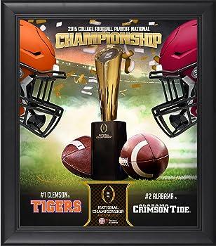Alabama Tide vs Clemson Tigers 2016 Framed Collage