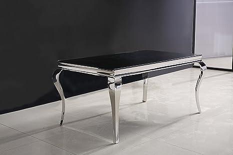 Tavoli Con Gambe Di Vetro : Metallo cromato tavolo da pranzo con gambe curve curvo e piano in