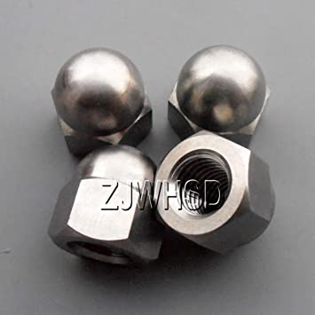 4pcs M6 x 1 Titanium Ti Hex Nylon Lock Nut Pro Aerospace Grade for Bike