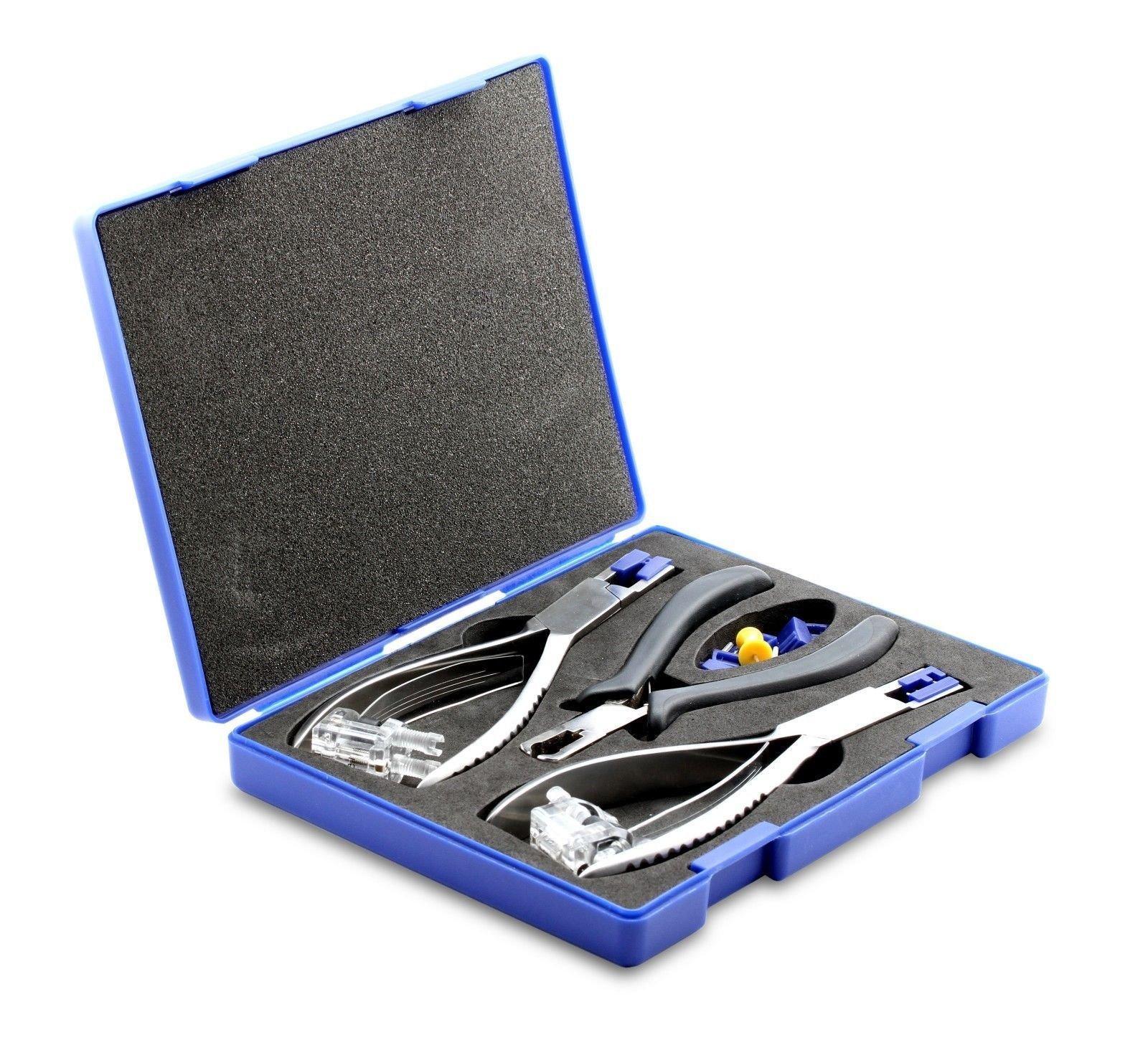 CARESHINE Optical Tools Rimless Disassembly Pliers Set Eyeglass Tool Kit Glasses Plier Rimless Disassembly Glasses Frame Silhousette Eyeglass Plier Set Optical Tool