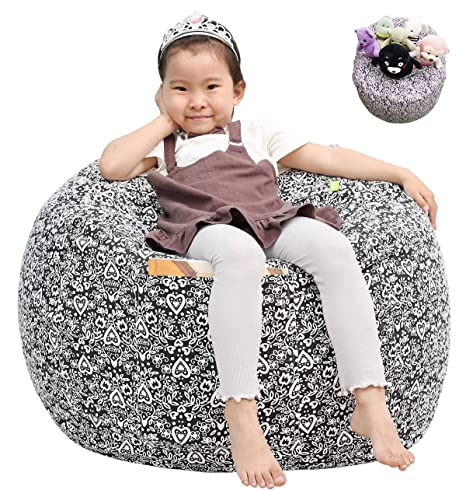 Terrific Great Eagle Stuffed Animal Storage Bean Bag Chair Cover 38 Extra Large Cotton Canvas Bean Bag Chair For Kids Toddlers And Teens Boys Or Girls Toy Cjindustries Chair Design For Home Cjindustriesco