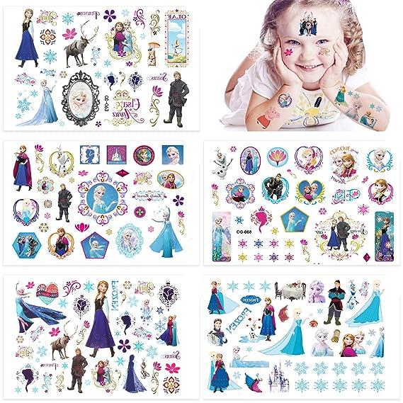 Qemsele Tatuajes Temporales Para Niños Niñas, 10 Sheets 200+ Pcs ...