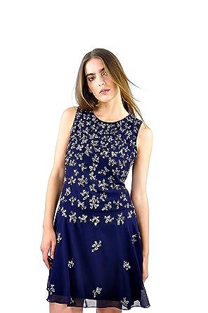 Angeleye Elegant Embellished Prom Dress In Navy Size XS