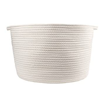Orino Cotton Rope Storage Baskets With Handles, 15u0026quot;x10u0026quot; ...
