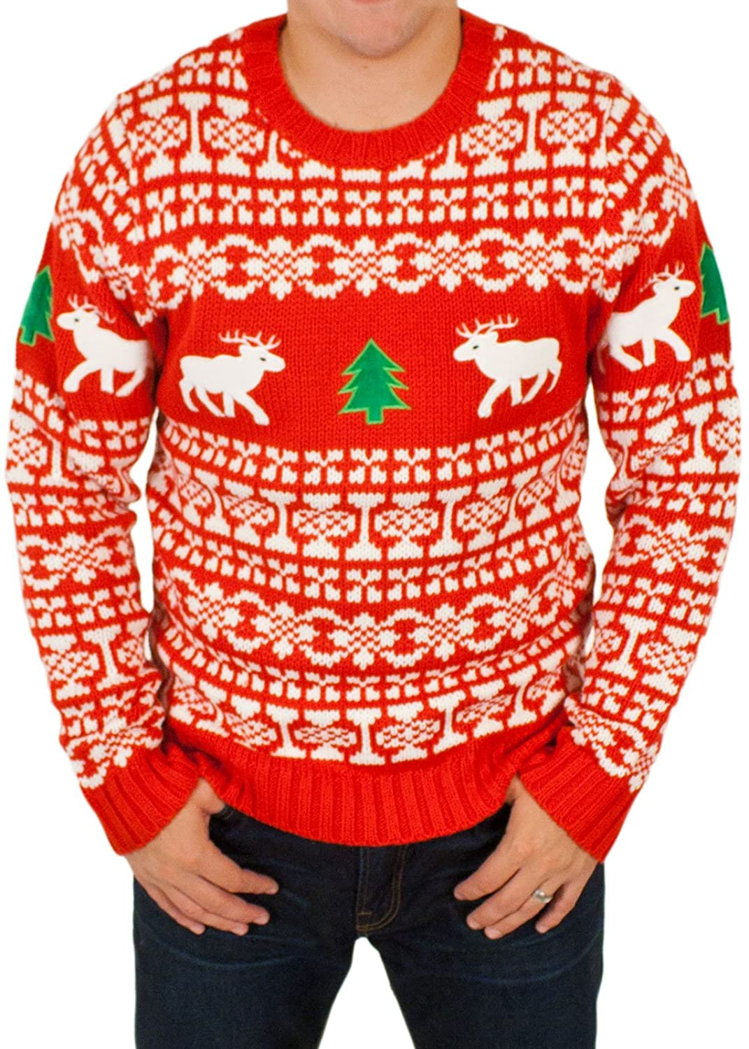 Ugly Christmas Sweater - Holiday Reindeer Pullover Sweater By ...