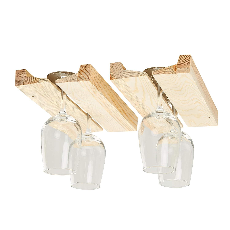 Wooden Wine Glass Rack Stemware Rack Hanging Wood Wine Glass