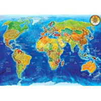 Ks Puzzle World Political Map 1500 Parça Puzzle