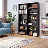 Homfa Bookshelf 70 in Height, Wood Bookcase 6 Shelf Free Standing Display Storage Shelves Standard Organization Collection Decor Furniture for Living Room Home Office, Black