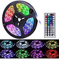 Led Strip Lights, Amazer Tec 16.4ft/5m Led Lights Color Changing RGB SMD 5050 150Leds LED Strip Light Kit with 24 Keys…