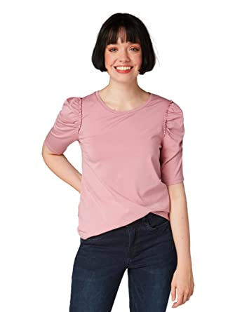 f9cf2316713108 TOM TAILOR Denim T-Shirts Tops Shirt mit Puffärmeln  Amazon.de  Bekleidung