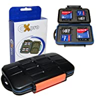 Ex-Pro Tough-store Waterproof Memory Card Case for [SD/SDHC/SDXC/Compact Flash/CF] - Orange