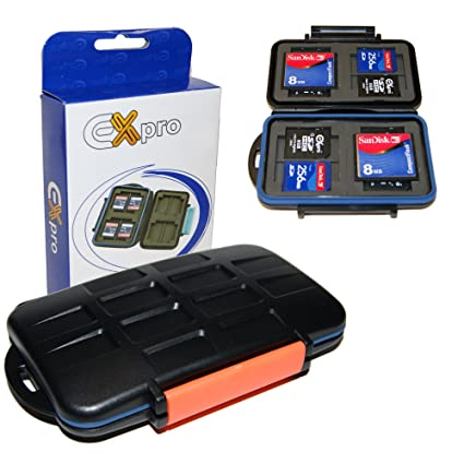 Ex-Pro - Carcasa dura impermeable para tarjetas SD, SDHC, SDXC ...