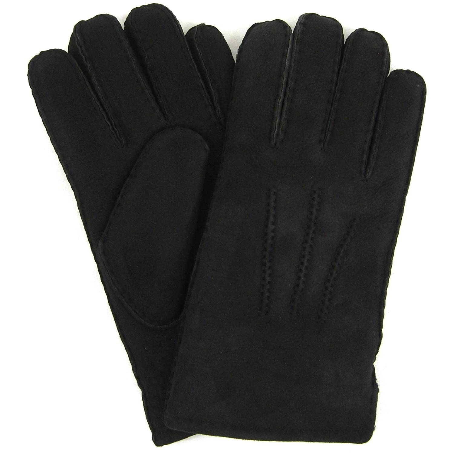 Extra small black leather gloves - Mens Luxury Full Sheepskin Gloves Black Sizes Small To Extra Large