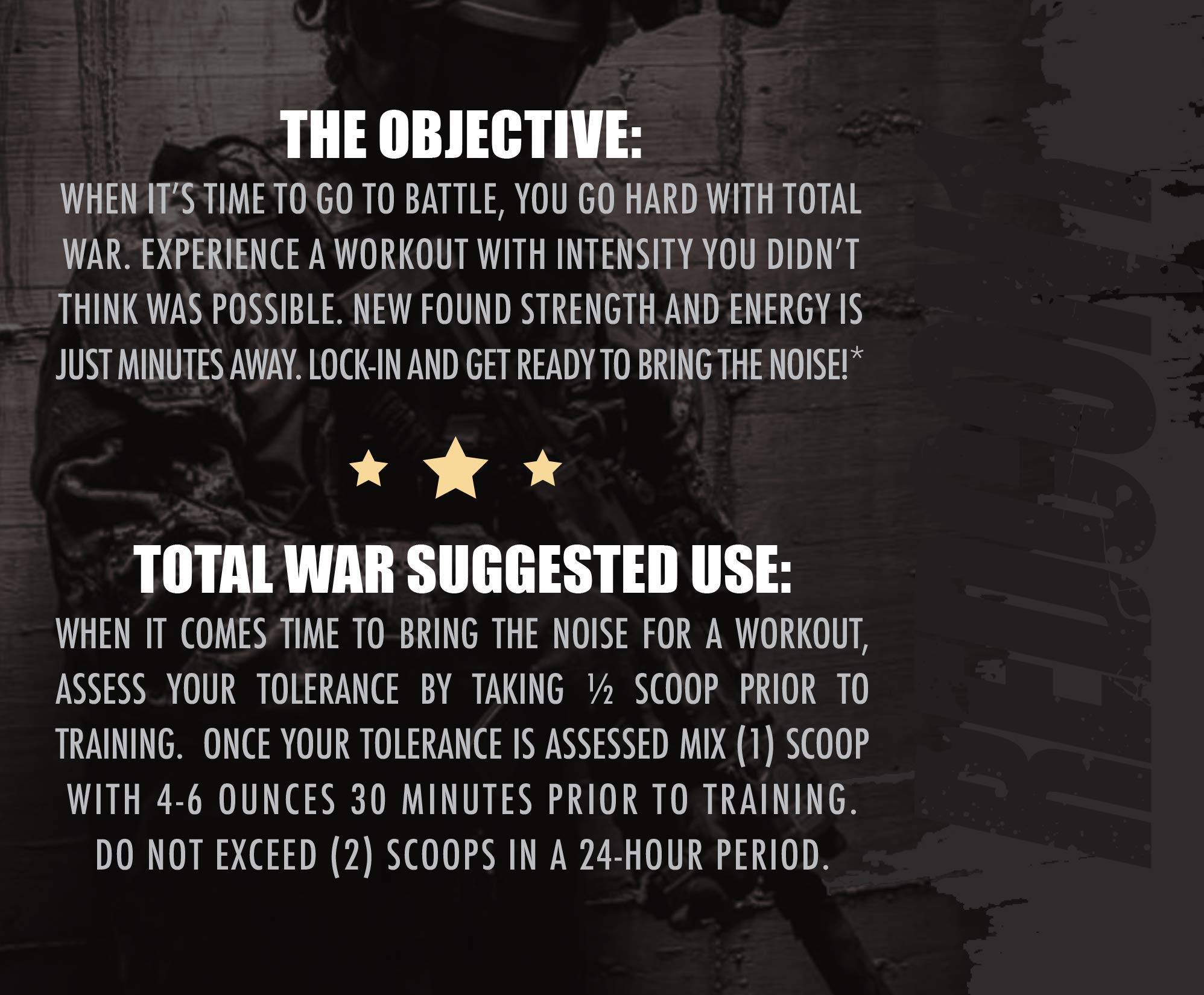 Redcon1 Total War - Pre Workout - 30 Servings - Newly Formulated (Firecracker) by Redcon1 (Image #3)