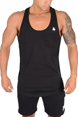 1b55bfbf35 Amazon.com: YoungLA Stringer Tank Tops for Men | Workout Muscle Y Back | Gym  Bodybuilding Clothing | 302: Clothing