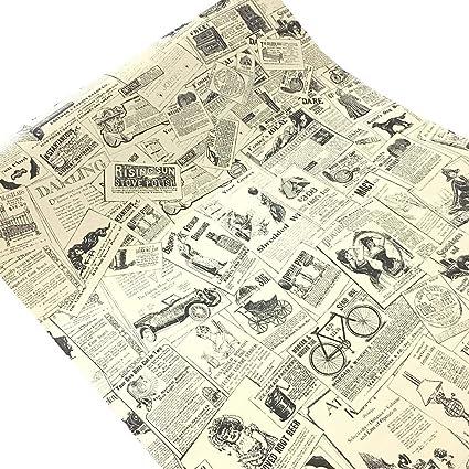 Carta Adesiva Per Ante Armadio.Wdragon Carta Da Parati Adesiva In Stile Vintage Per Decorare