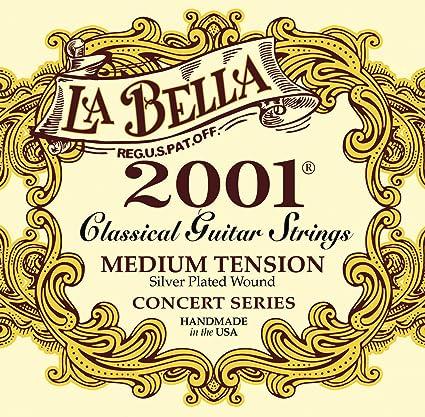 La Bella 7D77 - Juego de cuerdas guitarra clásica: Amazon.es ...