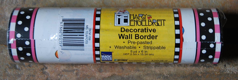 Mary Engelbreit Decorative Wand Border Teapots