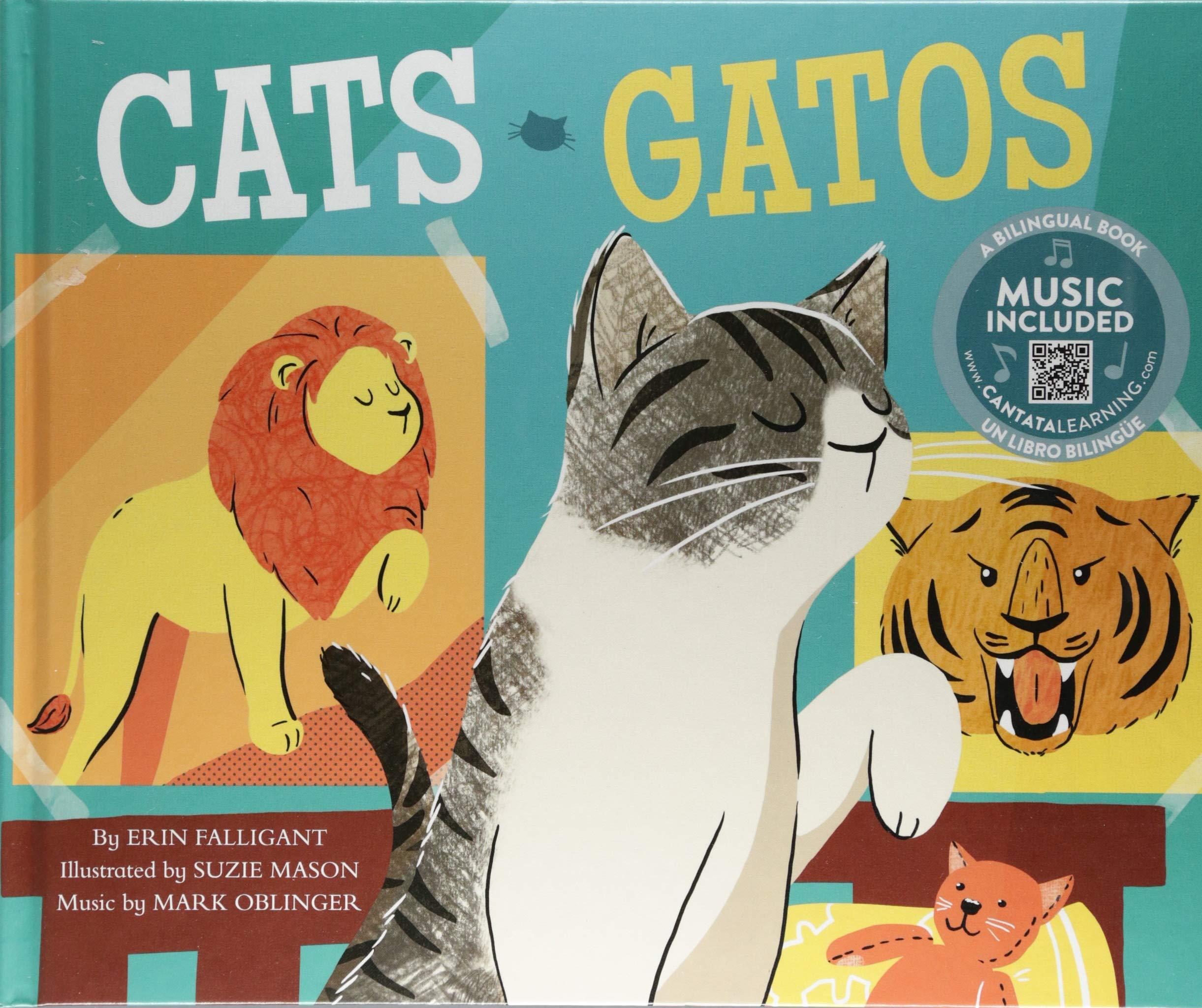 Cats / Gatos (Pets! / iLas mascotas!) (Multilingual Edition) (Multilingual) Library Binding – August 1, 2018