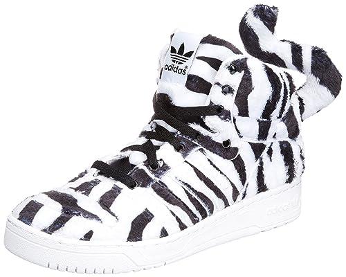 7114e020e1cbc3 adidas Originals JEREMY SCOTT White Tiger Shoes wings leopard B26037 Size  UK 9  Amazon.co.uk  Shoes   Bags