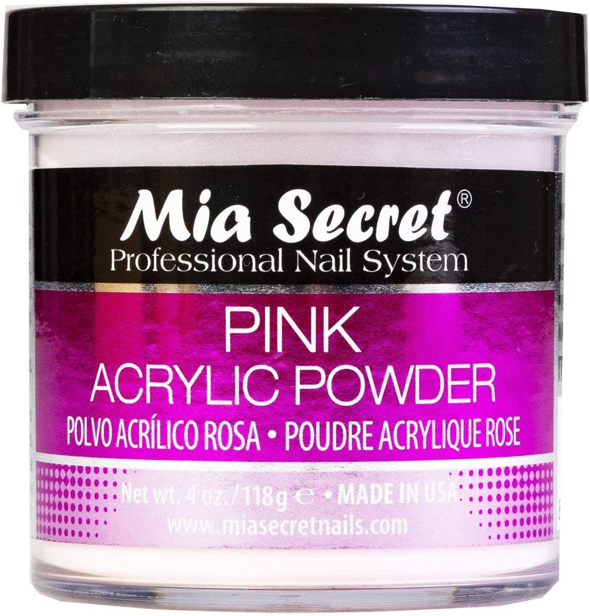 Mia Secret Pink Acrylic Powder 4 oz.