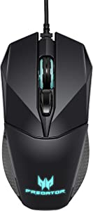 Acer Predator Cestus 300 RGB Gaming Mouse – Dual Omron switches 70M click lifetime, On board memory and programmable buttons,Black