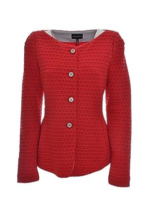 Emporio Armani - Blouson - Femme - Rouge - 44  Amazon.fr  Vêtements ... 70f922ba948