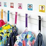 Cintas personalizadas para colgar la ropa de los niños sin coser (6 uds)