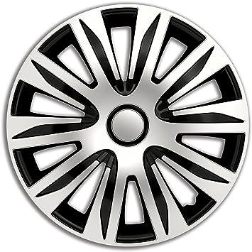 4er Set Radkappen Radzierblenden Radabdeckungen Modell Nardo Silber Schwarz 15 Zoll Auto