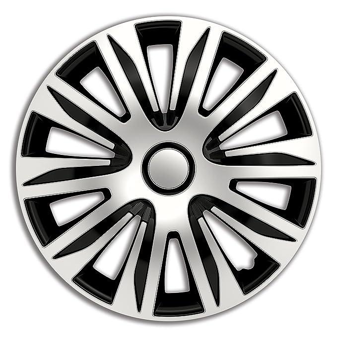 4pc Set Wheel Trims Wheel Covers Hub Caps NARDO SILVER & BLACK 15 inch: Amazon.co.uk: Car & Motorbike