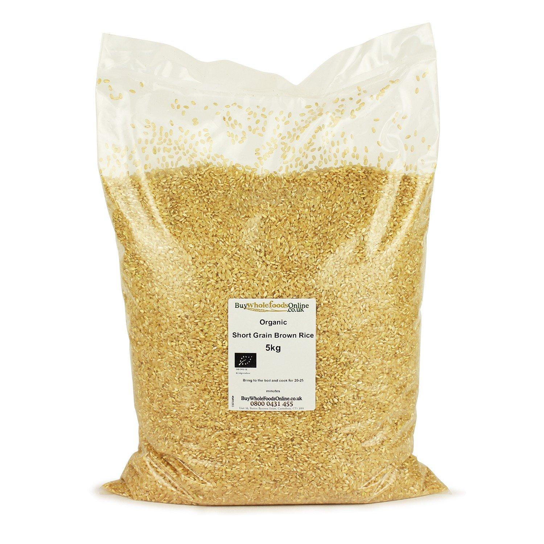 Organic Short Grain Brown Rice 5kg: Amazon: Grocery