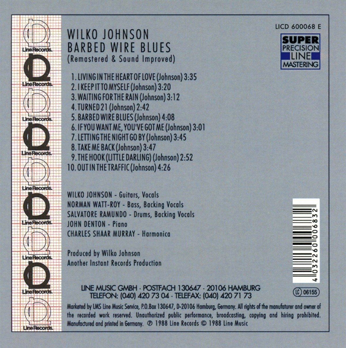 Barbed Wire Blues (Remastered and Sound Improved) by Wilko Johnson ...
