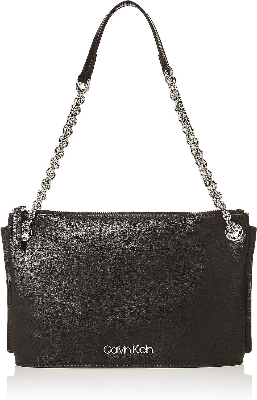 Calvin Klein Chained Conv Shoulderbag, Bolso de Hombro para Mujer, 50x19x28 centimeters (W x H x L)
