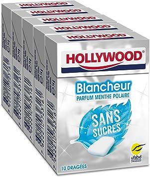 Chicle menta polar S/Sucres Hollywood Los 5 cajas de 10 gominolas – 70 g: Amazon.es: Salud y cuidado personal
