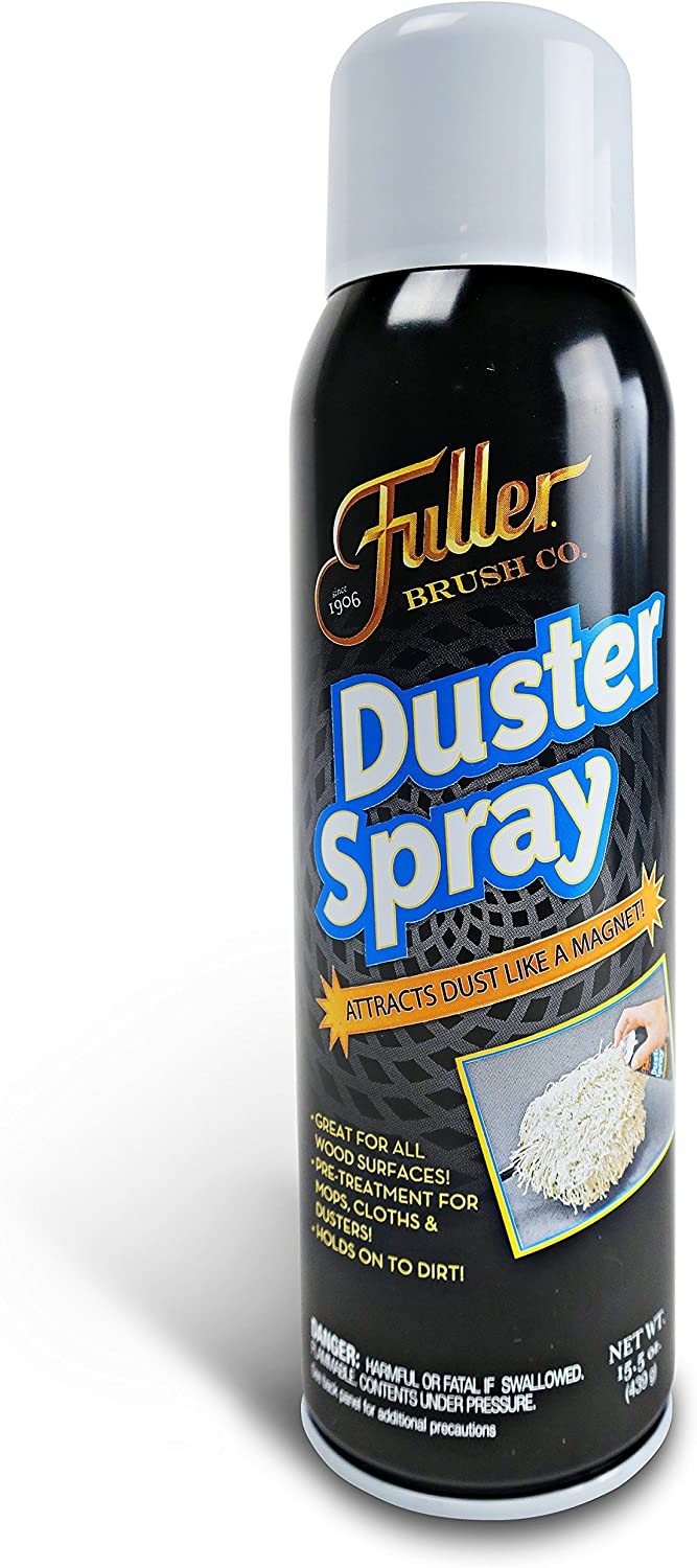 Fuller Brush Duster Spray - Wood & Multi Surface Dust Attractor & Cleaner – 15.5 oz