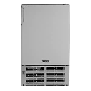 Whynter MIM-14231SS 14'' Undercounter Automatic Stainless Steel Marine 23lb Daily Output Ice Makers One Size